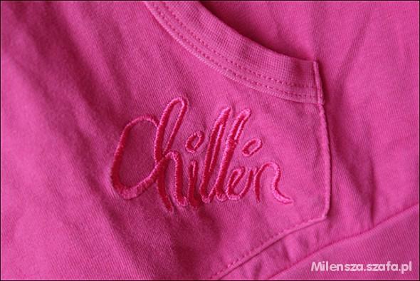 Różowa bluza cropp