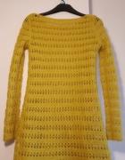 Sweter SOLAR rozmiar S ciemna żółć...
