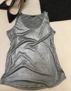 srebrna bluzka L...