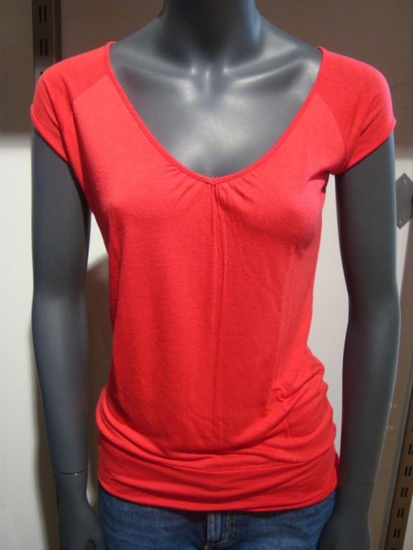 Bluzki Dłuższa Luźniejsza Czerwona Bluzka Tunika S