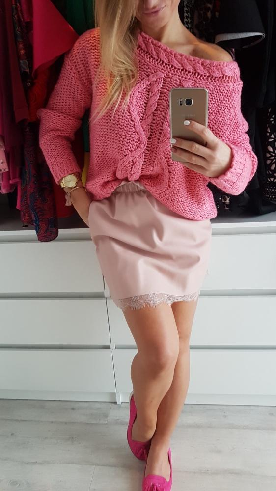 Swetry Śliczny wiosenny różowy sweterek