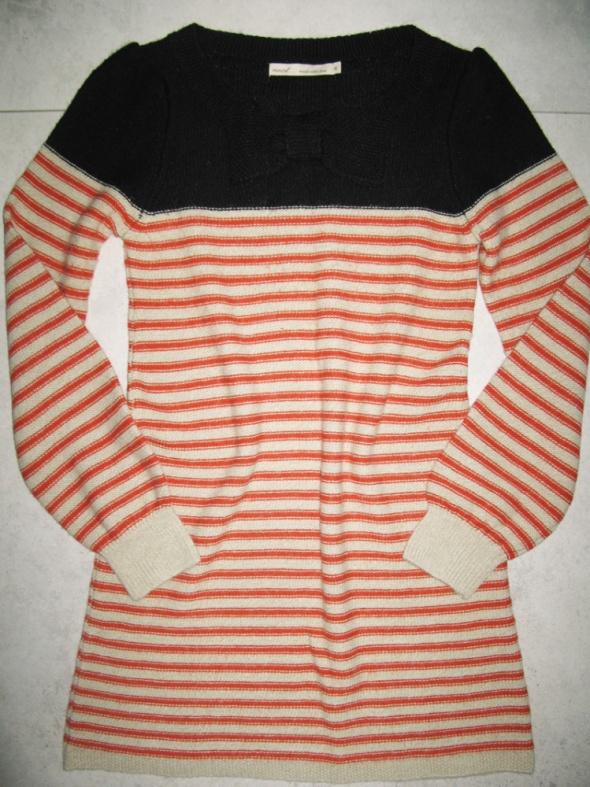 NEXT damski sweterek w paski z kokardą roz 36...