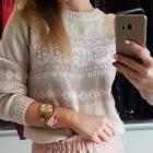 Cieplutki sweterek w norweskie wzory