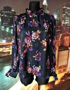 primark bluzka zwiewna modny wzór kwiaty ornament 46...