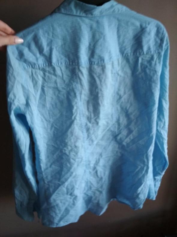 Koszule Koszula niebieska SINSAY XS kieszonki
