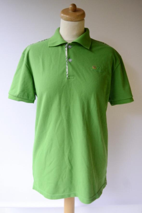 Koszulka Polo Burberry L 40 Polówka Zielona Kratka Bluzka