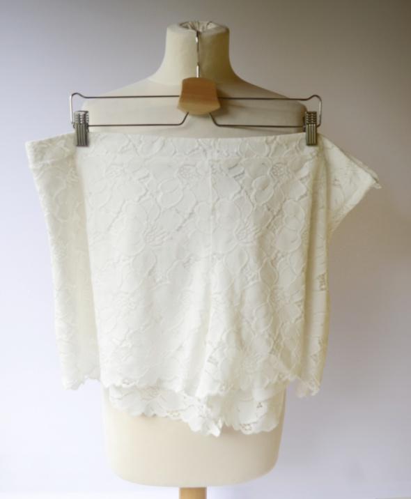 Spodenki Koronkowe Białe H&M XL 42 Koronka Szorty