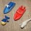 Motorówki zabawki metal i plastik zwierzątka