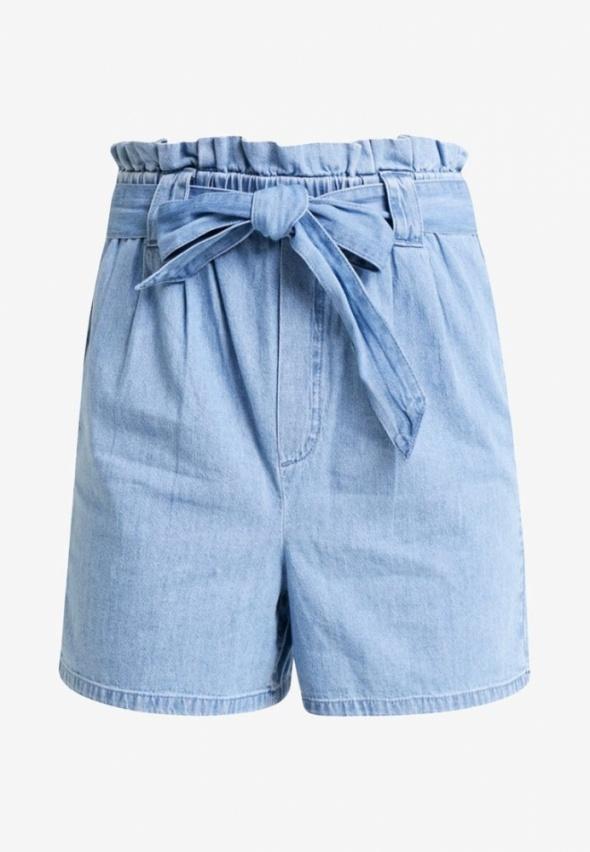 Jeansowe szorty z wiązaniem