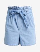 Jeansowe szorty z wiązaniem...