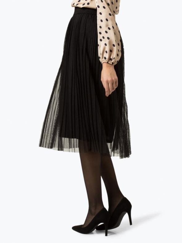 Tiulowa plisowana spódnica