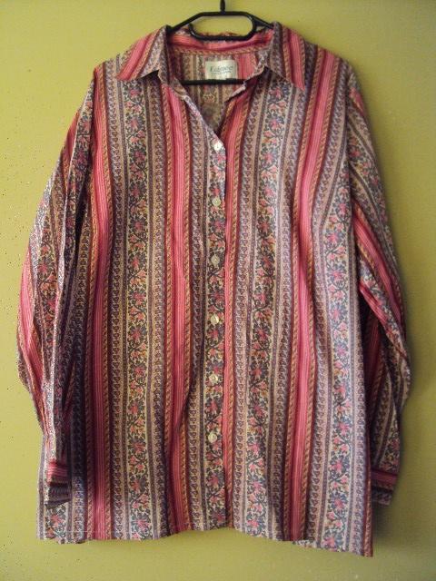 bawełniana koszula we wzorki...