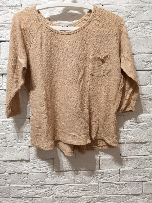 beżowy sweter S M L nude boho Cubus oversize casual