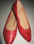 CELLBES czerwone damskie baleriny damskie roz 37...