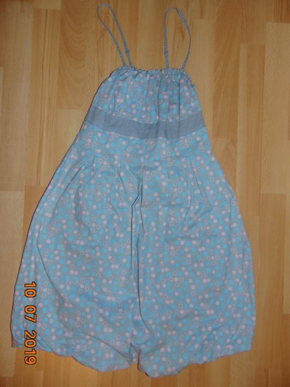Suknie i sukienki sukienka szara groszki kropki rozkloszowana