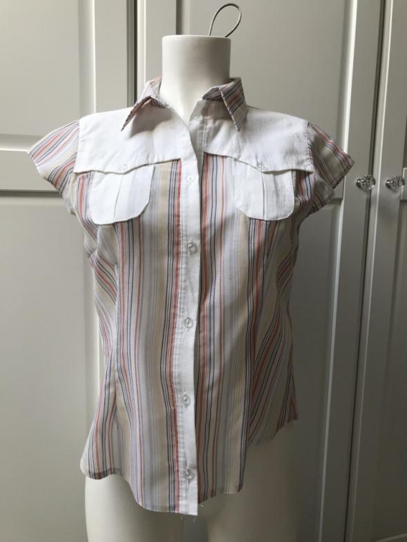 Bluzki Bluzka w paski z krótkim rękawem