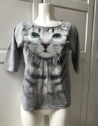 Koszulka szara z kotem...