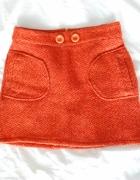 ceglana pomarańczowa ciepła spódniczka...
