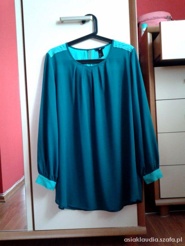 Bluzka turkusowa H&M