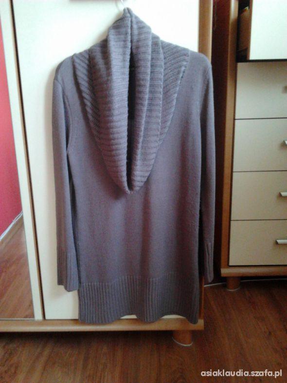 Łososiowo pudrowy dłuższy sweter H&M cena z wysyłk...