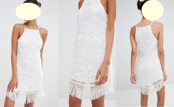 MISSGUIDED cudna biała sukienka roz 36
