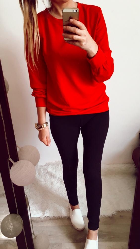 Bluza Damska czerwona basic M