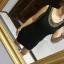 Nowa z metką czarna sukienka elastyczna z kołnierzykiem M L XL r uniwersalny