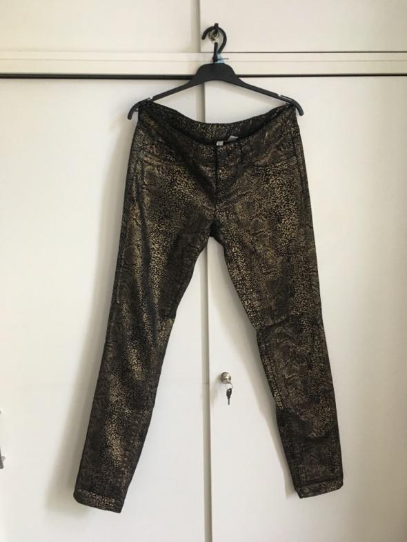 czarno złote spodnie Mango 40pks