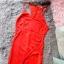 Czerwona suknia z wycięciami S seksi kopertowa dopasowana
