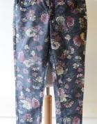 Spodnie Kwiaty KappAhl M 38 Rurki Kwiatki Eleganckie...
