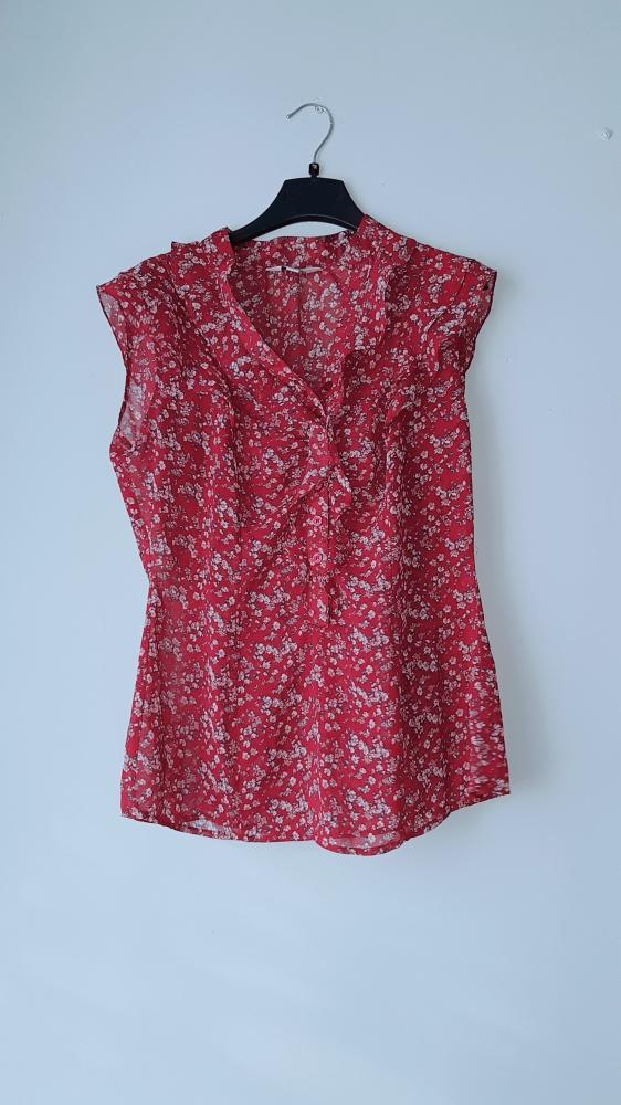 Idealna bordowa bluzka falbanki...