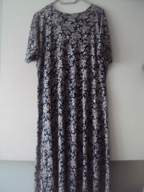 sukienka w szare kwiatki...