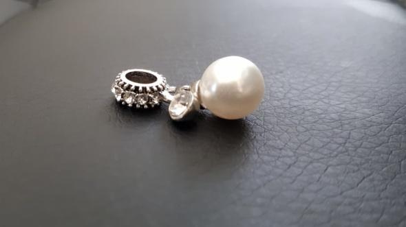 Charm do bransoletek typu Pandora koraliki cyrkonie perła...