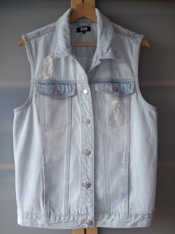Kamizelka jeansowa damska z modnymi rozdarciami Bik Bok rozmiar M