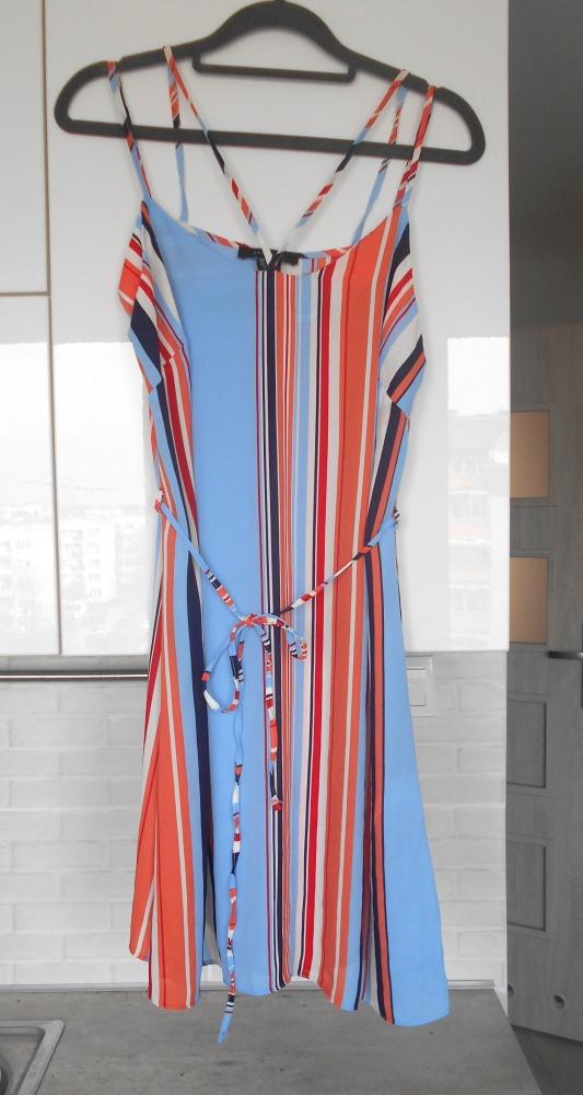 Atmosphere letnia sukienka na ramiączkach paski...