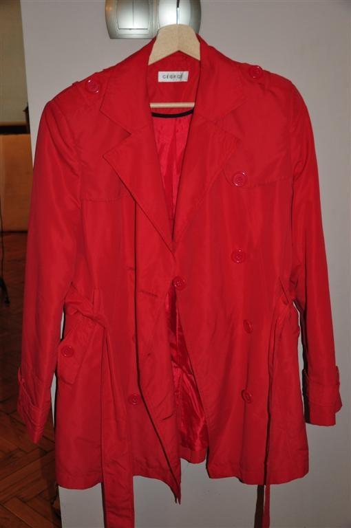 czerwony trencz George 40