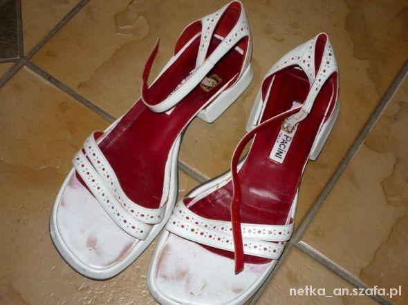 rozm 38 39 białe sandałki