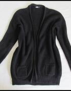 BIK BOK czarny klasyczny sweter kardigan narzutka 40 L...