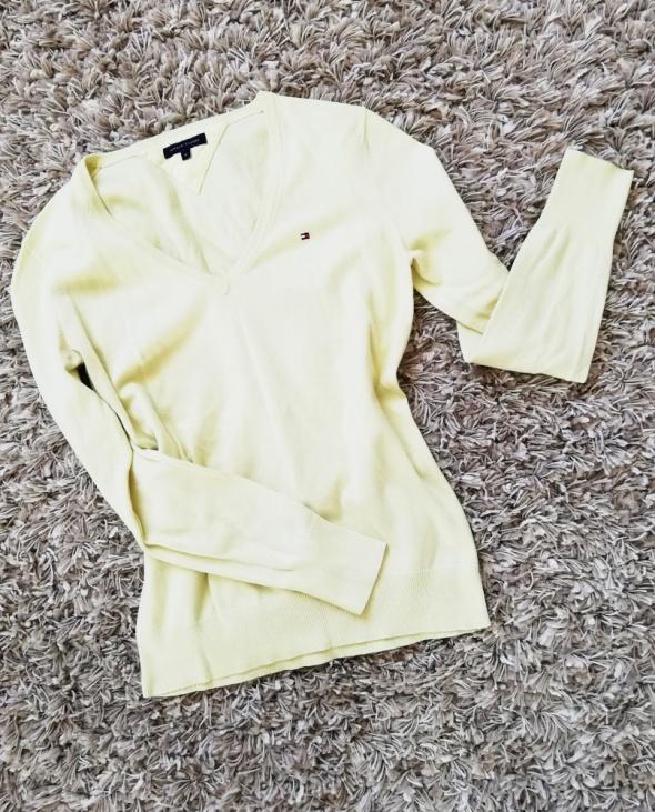cytrynowy sweterek tommy hilfiger 36