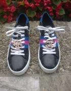 Nowe skórzane sneakersy trampki...