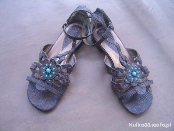 Sandały Brązowe sandałki