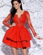 Sukienka Koronka z falbanami 34...