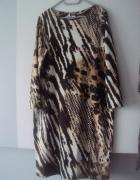 nowa dzianinowa sukienka w panterke...