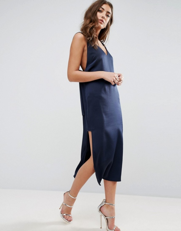 Suknie i sukienki Asos sukienka dekolt V wycięcia 34 XS