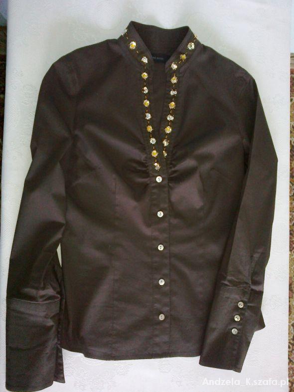 Brązowa bluzka z cekinami Vero Moda S
