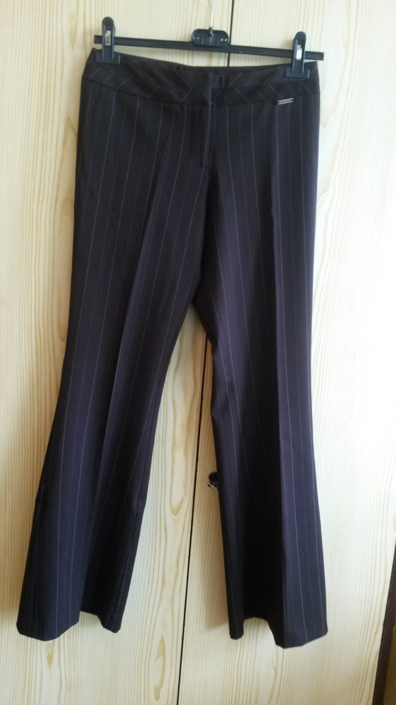Eleganckie spodnie w prążki River Island 6 XS brąz...