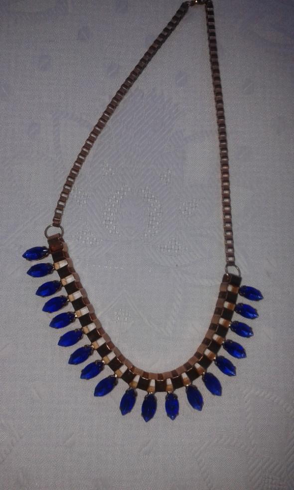 Niebieski naszyjnik z kryształkami w kolorze kobaltu