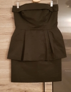 SIMPLE sukienka r 38 mała czarna baskinka...