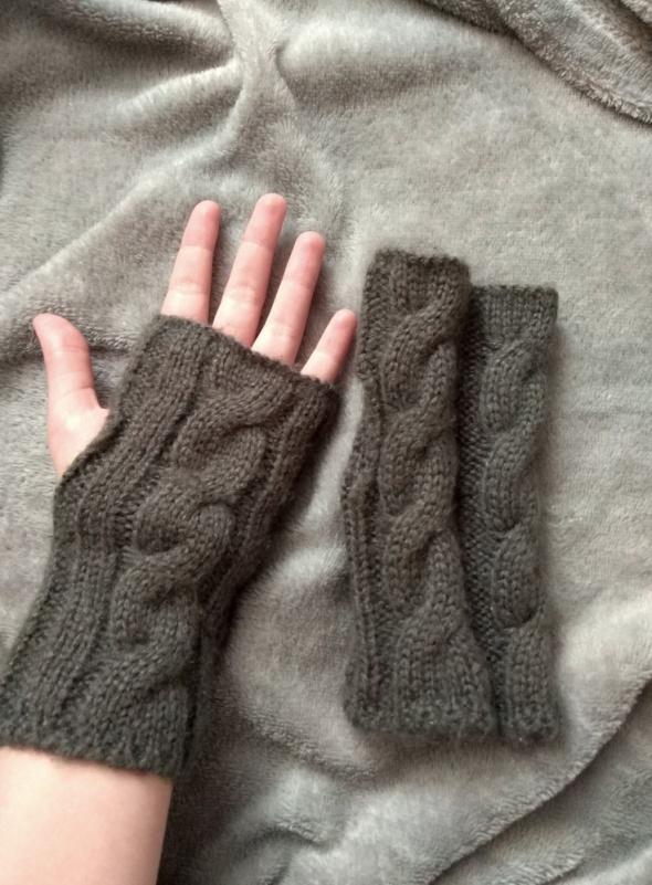 Wełniane nakładki na rękawiczki