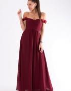 Suknia wieczorowa burgundowa S M L...